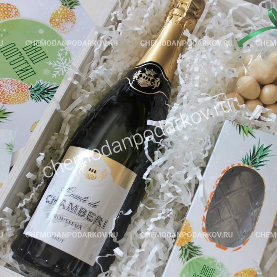 Подарочный набор Ананасы с шампанским
