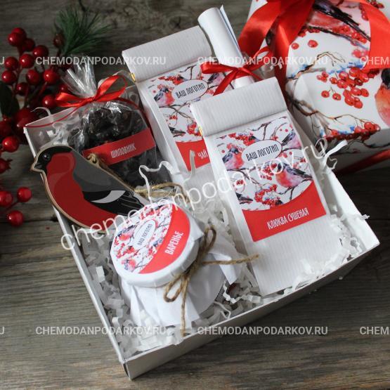 Подарочный набор Снегири на снегу